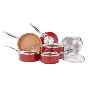 Red Copper Non-Stick Cookwar